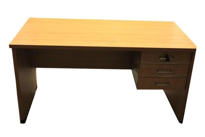 שולחן עבודה מגירות צמודות-סטודנט אורך 140 ס``מ רוחב 70 ס``מ