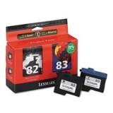 זוג ראש דיו שחור+צבע מקורי 82+83 Lexmark 18L0032+ 18L0042