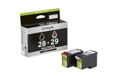 זוג ראשי דיו שחור+צבע מקורי (28+Lexmark  18C1429+18C1428 (29