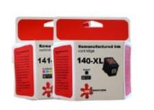 זוג ראשי דיו גדולים תואמים (HP CB336HE+CB338H (140XL+141XL