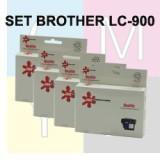 סט ראשי דיו תואמים BROTHER LC-900