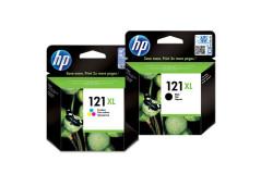 זוג ראשי דיו שחור+צבעוני מקוריים (HP CC644HE +CC641HE (121XL