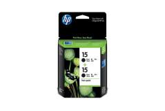 זוג ראשי דיו מקוריים HP C6615D