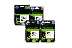 סט 4 ראשי דיו מקוריים HP 932XL+HP933XL