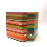 קלסר משרדי מעוצב תחרה - גב 8 במגוון צבעים