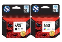 זוג ראשי דיו מקוריים (650) HP CZ101AE+CZ102AE