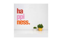 מדבקת קיר -Happiness