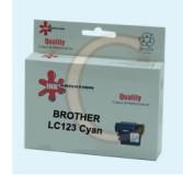 ראש דיו  ציאן תואם BROTHER LC123 Cyan