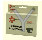 ראש דיו צהוב תואם BROTHER LC123Y