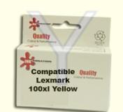 ראש דיו תואם צהוב XL  (100) Lexmark 14N1071E