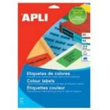 מדבקות למדפסת A4 בצבעים - 37X70 מ``מ