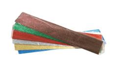 נייר קרפ מתכתי צבעוני 1 יחידה - 50X100 ממ
