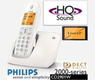 טלפון אלחוטי בודד  CD2901W PHILIPS ממשק עברית