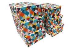 סט 6 קופסאות מלבן לאיחסון  רטרו