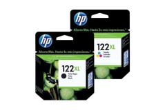 זוג ראשי דיו שחור וצבע מקורי (HP CH563HE+CH564HE (122XL