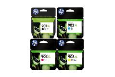 סט 4 ראשי דיו מקוריים HP907XL + HP903XL