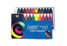 גירי שעווה דקים - 12 צבעים אומגה