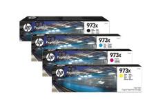 סט 4 ראשי דיו מקוריים (HP L0S07AE+F6T81-3AE (973XL