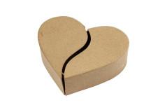 קופסא בצורת לב חצוי - עבודת יד