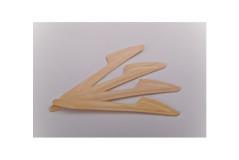 סכין חד פעמית עשוי מעץ - 25 יחידות