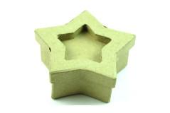 קופסת נייר עבודת יד , גודל 6-11 ס``מ - כוכב