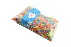 חרוזי פלסטיק בשקית מעורב 450 גרם