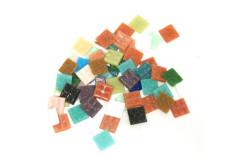 פסיפס זכוכית מרובע 2*2 ס``מ - מעורב צבעים