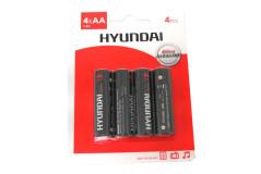 סט 4 סוללות אלקליין  AA-HYUNDAI  בבליסטר