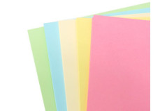 בריסטול 50/70  צבעים פסטלים חמישה צבעים 70 יחידות