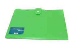 תיק מסמכים A4 מחולק ל-5 תאים ירוק