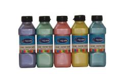 סט 5 בקבוקים צבע גואש פנינה  5X140 גרם - אומגה