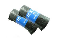 מארז זוג שקיות אשפה -25 שקיות בחבילה  אשפתון שחור