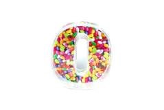קופסת סוכריות פלסטיק מספר 0
