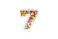 קופסת סוכריות פלסטיק מספר 7