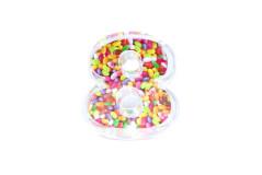 קופסת סוכריות פלסטיק מספר 8