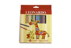 סט 24 עפרונות צבעוניים -LEONARDO