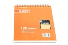 בלוק כתיבה לבן CLASSIC ספירל B5 - כריכה מהודרת 80 גרם - 120 דף