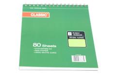 בלוק כתיבה לבן CLASSIC ספירל A4 - כריכה מהודרת 80 גרם - 80 דף