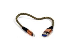 כבל 25 ס``מ  מתכת Micro USB