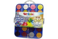 סט צבעי מים - איכותים על לוח 24 צבעים