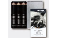 סט 12 עפרונות גרפיט  LYRA