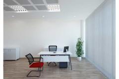 שולחן משרדי לבן רוחב 180 ס``מ LEMAS