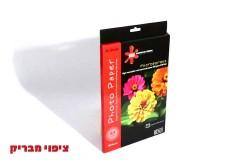 נייר מיקרופורוס איכותי  5760DPI-ציפוי גלוסי 50דף גודל A4