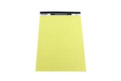 בלוק צהוב A4  לכתיבה - משובץ