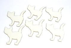 סט 6 חתולים - קרטון ביצוע