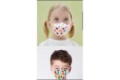 3 מסכות צבעוניות מבד לילדים