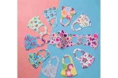 9 מסכות צבעוניות מבד לילדים