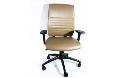 כסא מנהל MOROCCO גב גבוה ומשענת ראש -צבע MINK