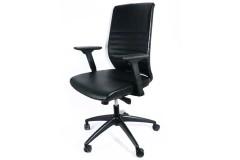 כסא מנהל MOROCCO גב גבוה ומשענת ראש -צבע שחור