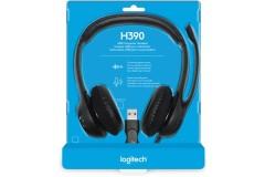אוזניות חוטיות Logitech H390 לוגיטק
